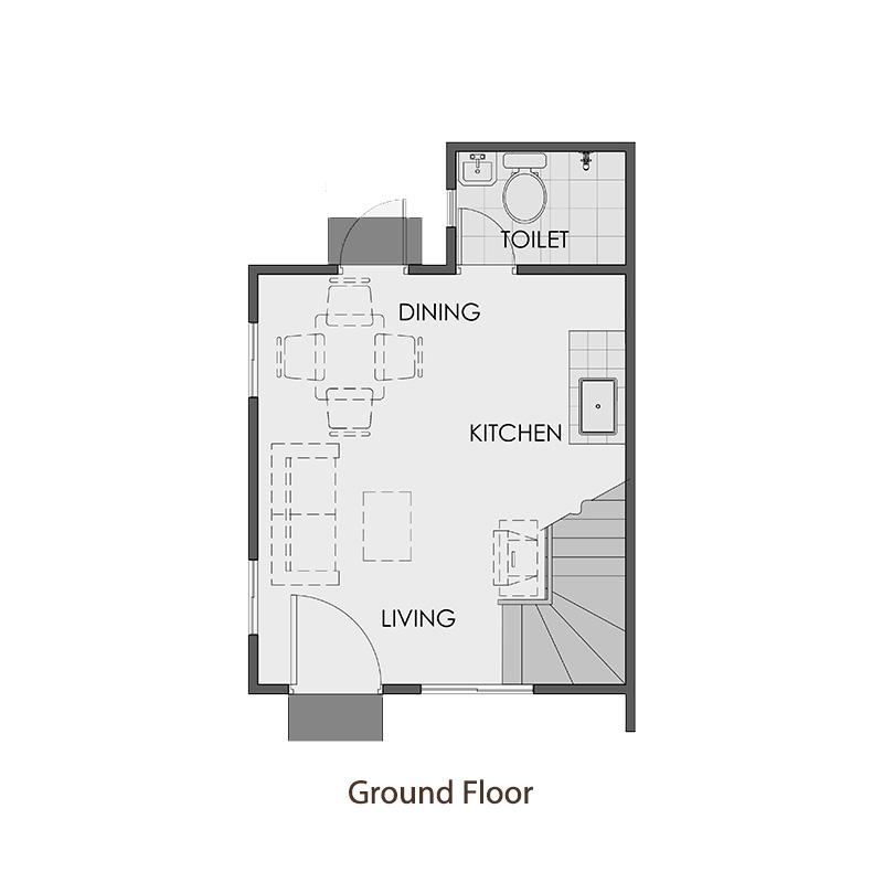Camella Urdaneta - Ground Floor Plan