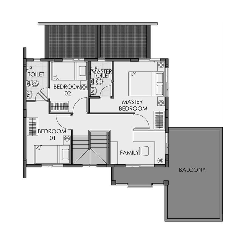 Camella Urdaneta - Second Floor Plan