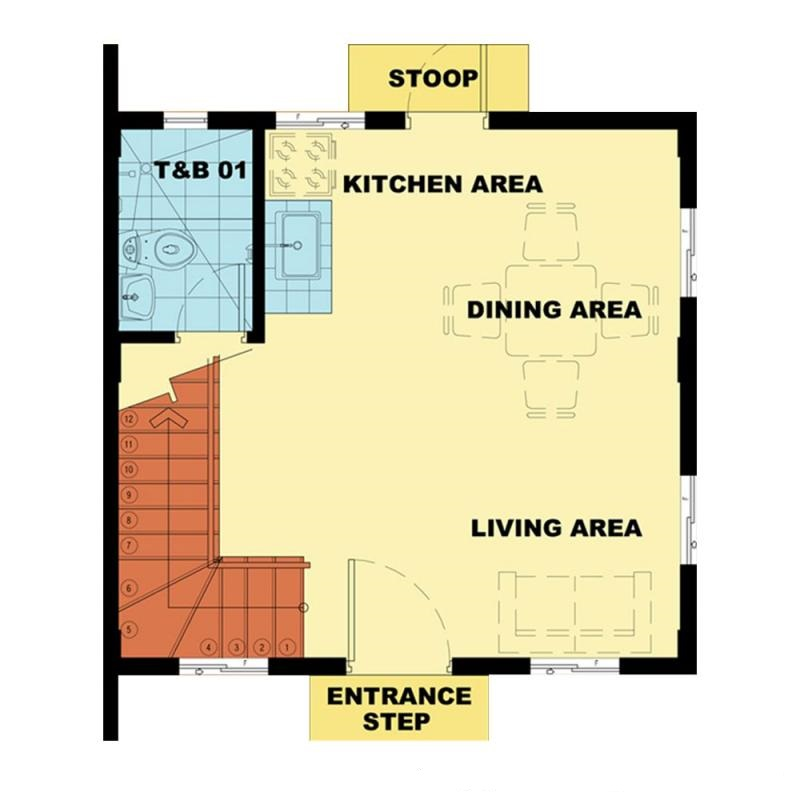 Camella Camnorte - Ground Floor Plan