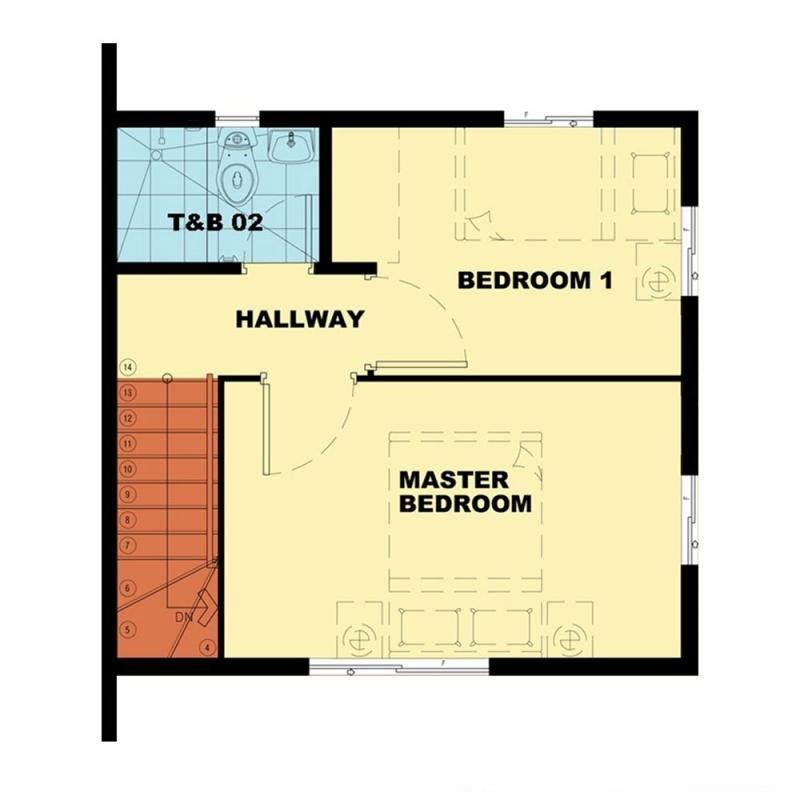 Camella Camnorte - Second Floor Plan