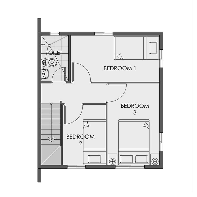 Camella Bacolod South - Second Floor Plan