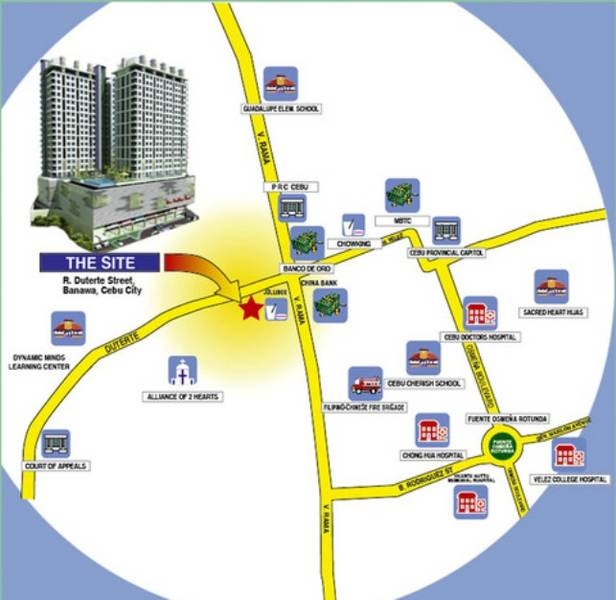 One Pavillion Place - Location Map