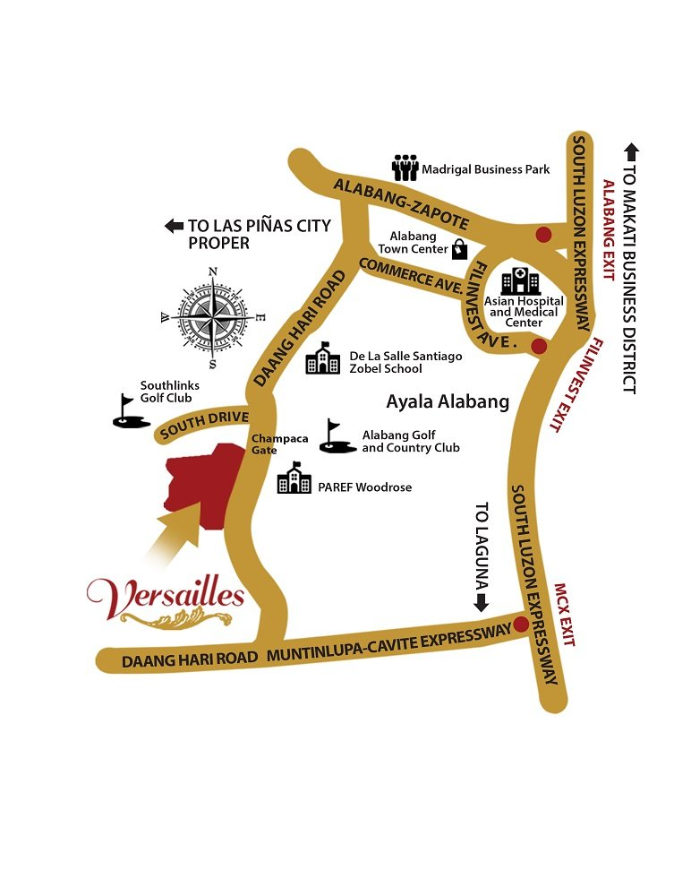 Versailles Village Alabang - Location Map