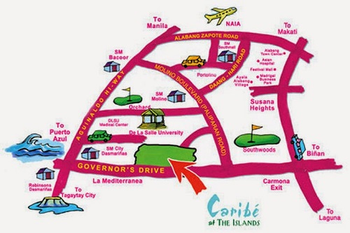 Caribe At The Islands - Location Map