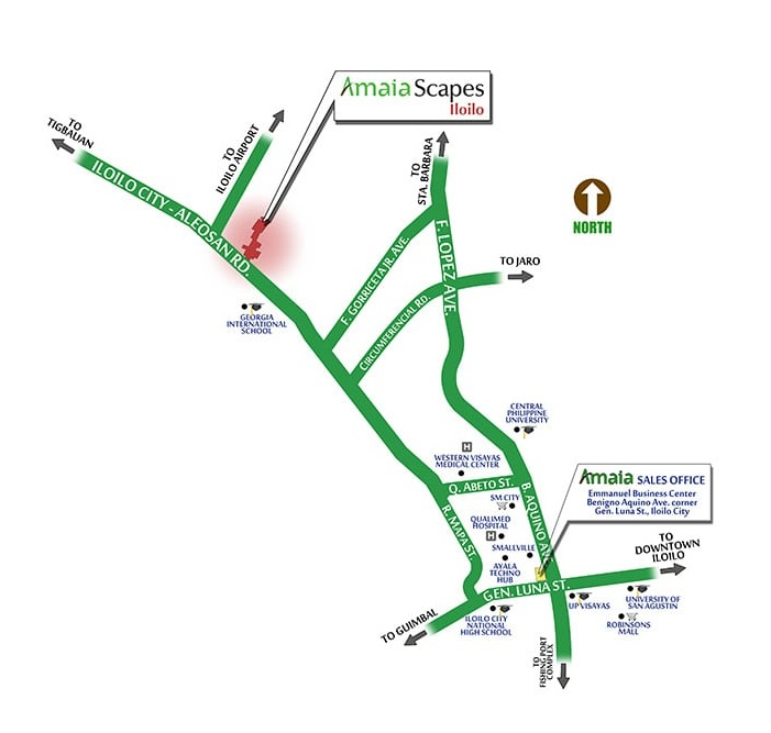 Amaia Scapes Iloilo - Location Map