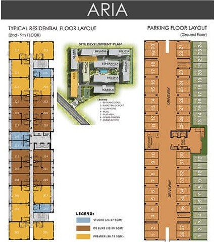 Amaia Steps Alabang - Aria Floor Plan