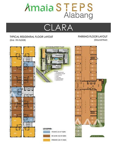 Amaia Steps Alabang - Clara Floor Plan