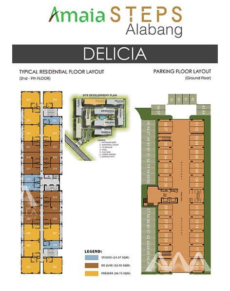 Amaia Steps Alabang - Delicia Floor Plan