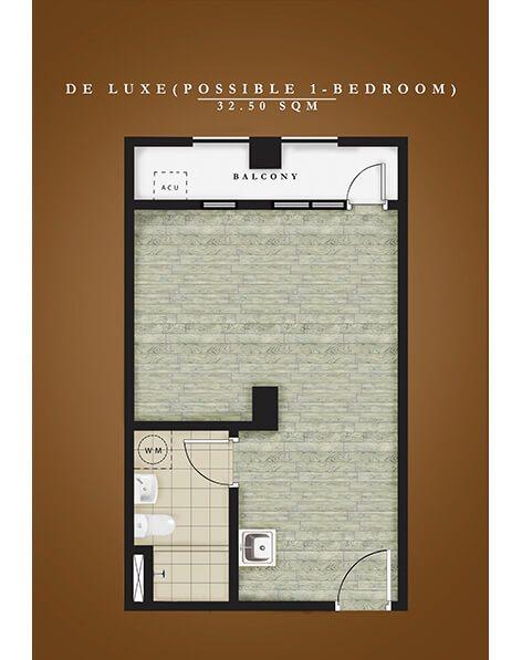 Amaia Steps Alabang - Deluxe Unit Floor Plan