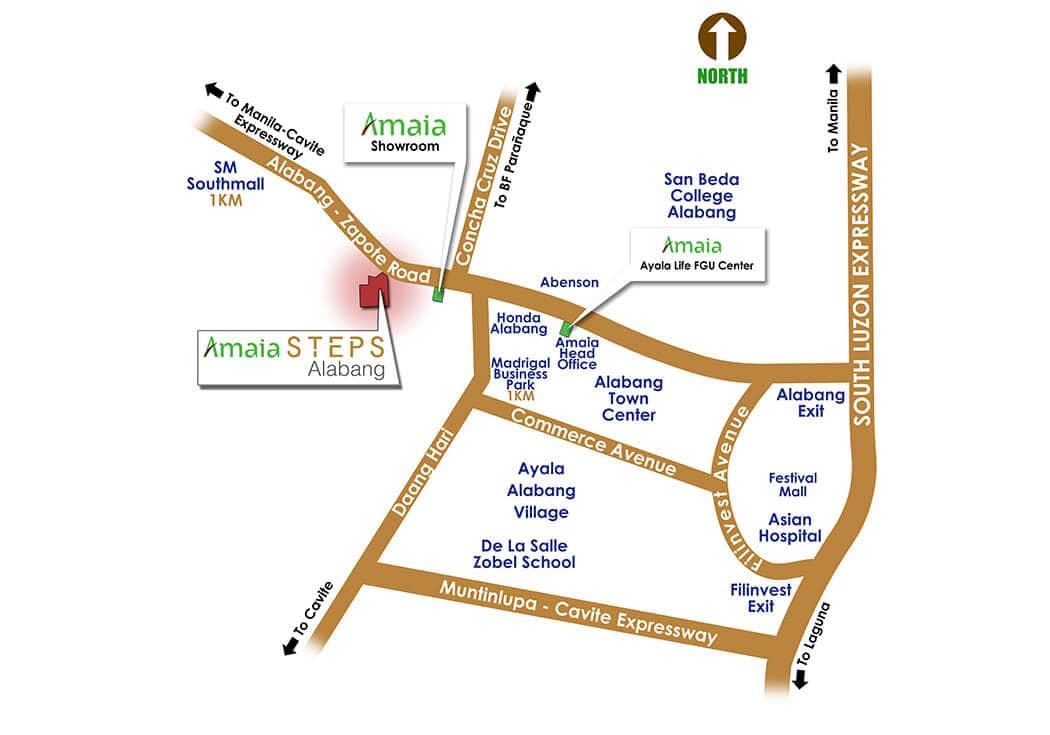 Amaia Steps Alabang - Location Map