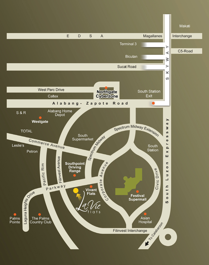 Vivant Flats - Location Map