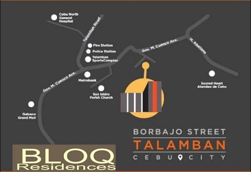 BLOQ Residences - Location Map