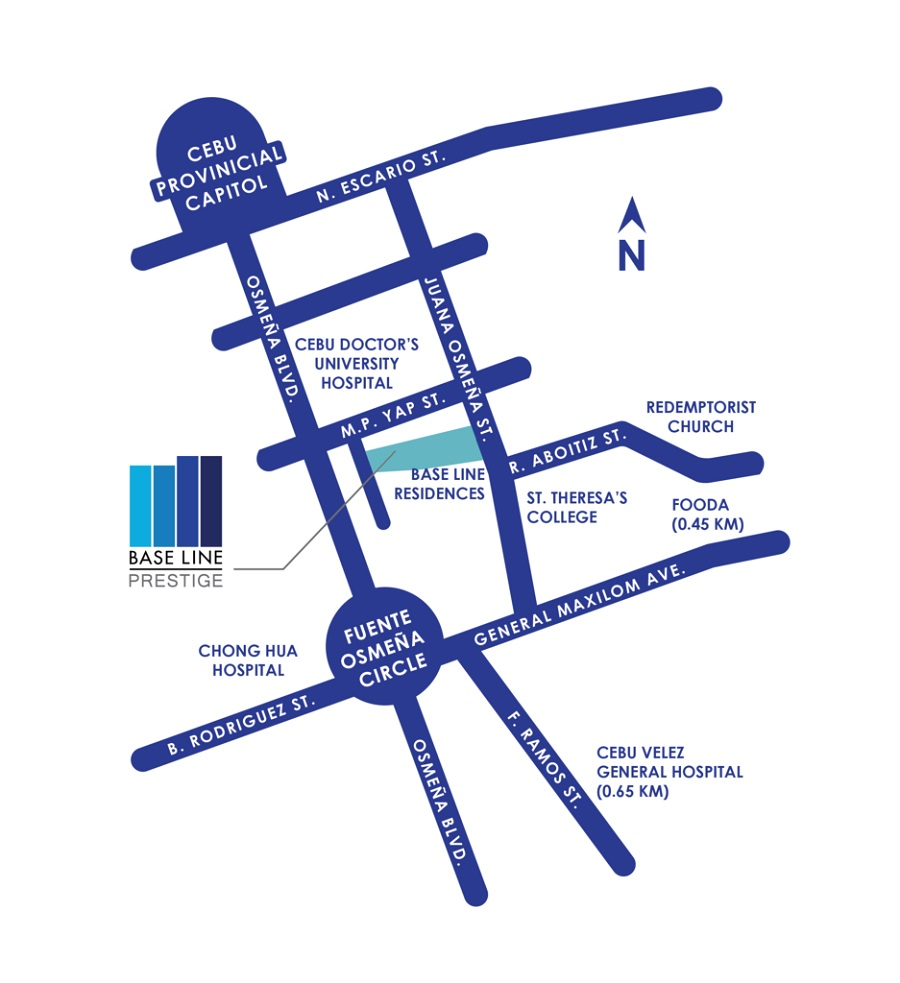 Base Line Residences - Location Map
