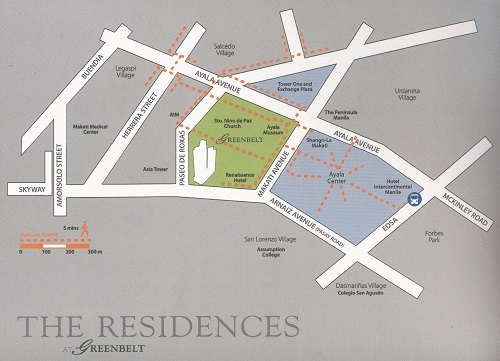 The Residences At Greenbelt - Location Map