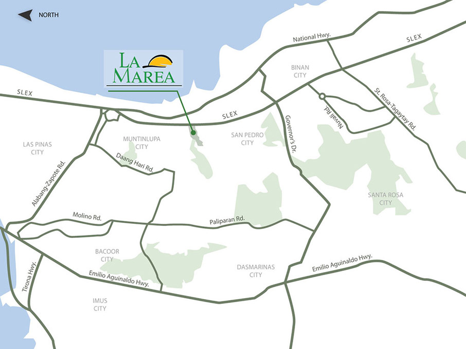 La Marea - Location Map
