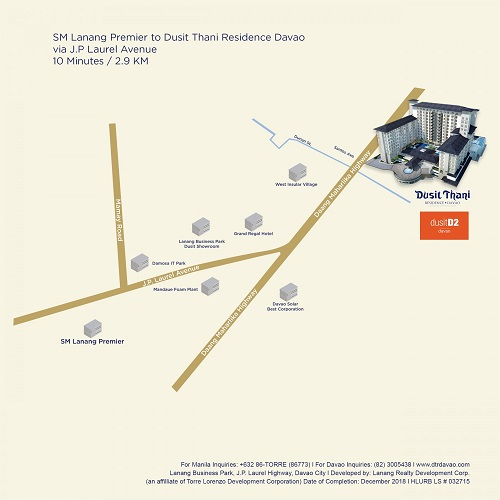 Dusit Thani Residence - Location Map