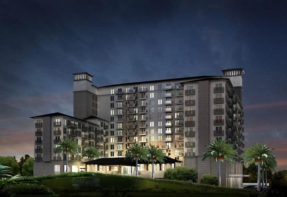 Dusit Thani Residence - Building Facade Night