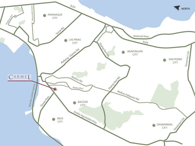 Carmel Cavite - Location Map