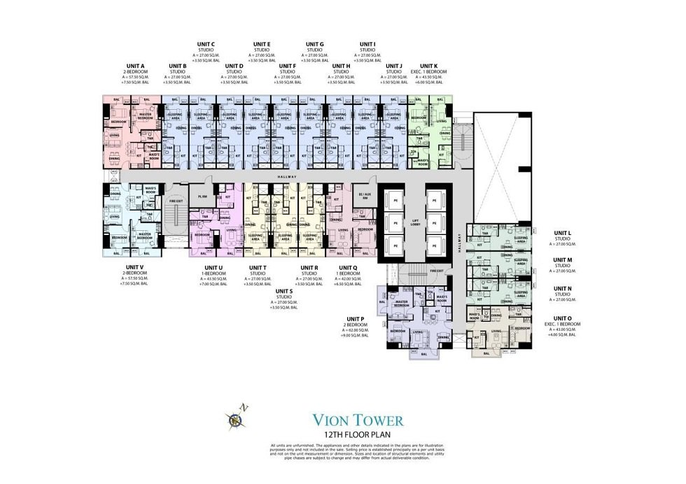 Vion Tower - 12th Floor Plan