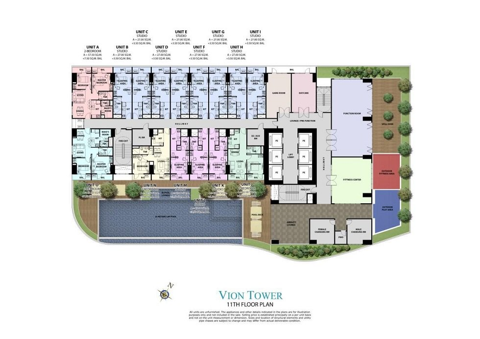 Vion Tower - Amenity Area Floor Plan