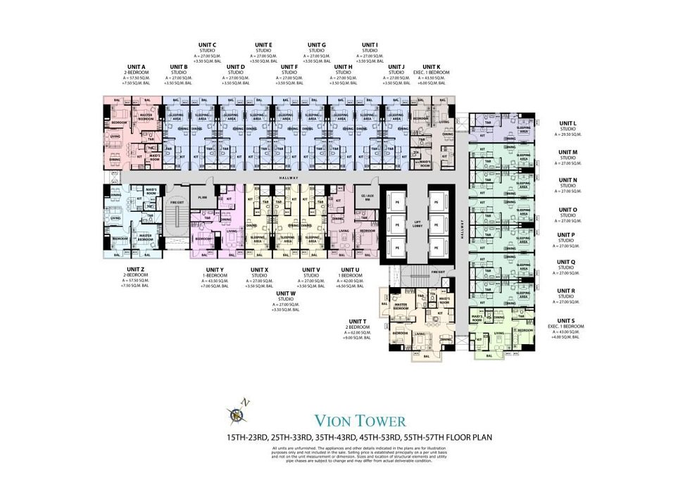 Vion Tower - Typical Floor Plan