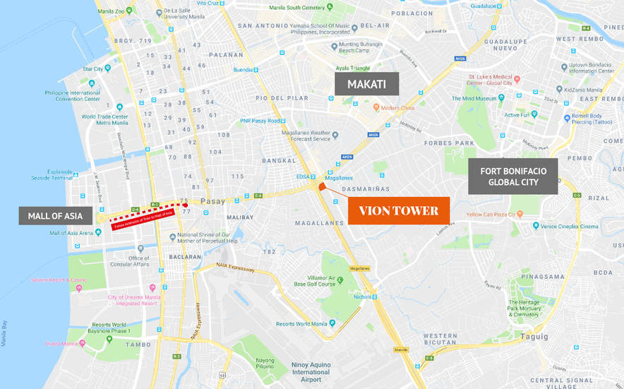 Vion Tower - Location Map