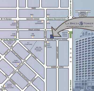 La Breza Tower - Location Map