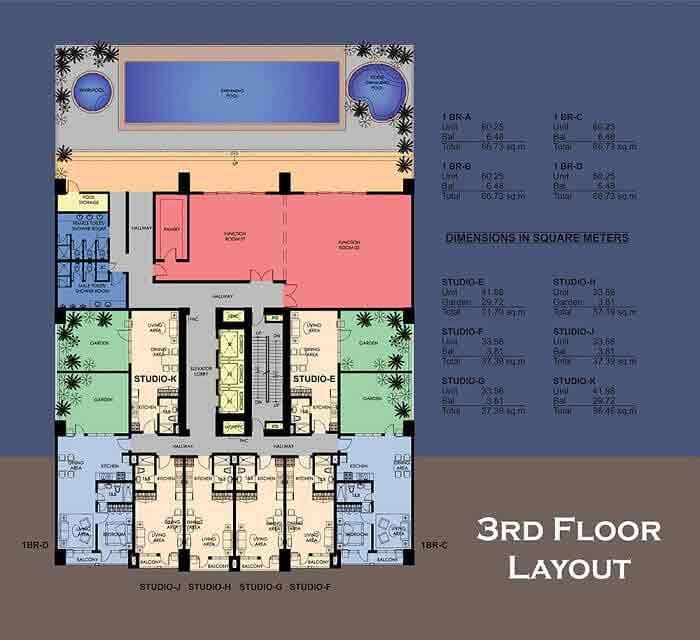 La Breza Tower - 3rd Floor Layout