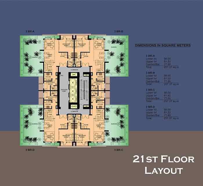 La Breza Tower - 21st Floor Layout