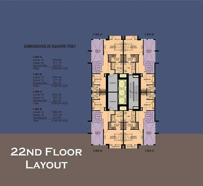 La Breza Tower - 22nd Floor Plan
