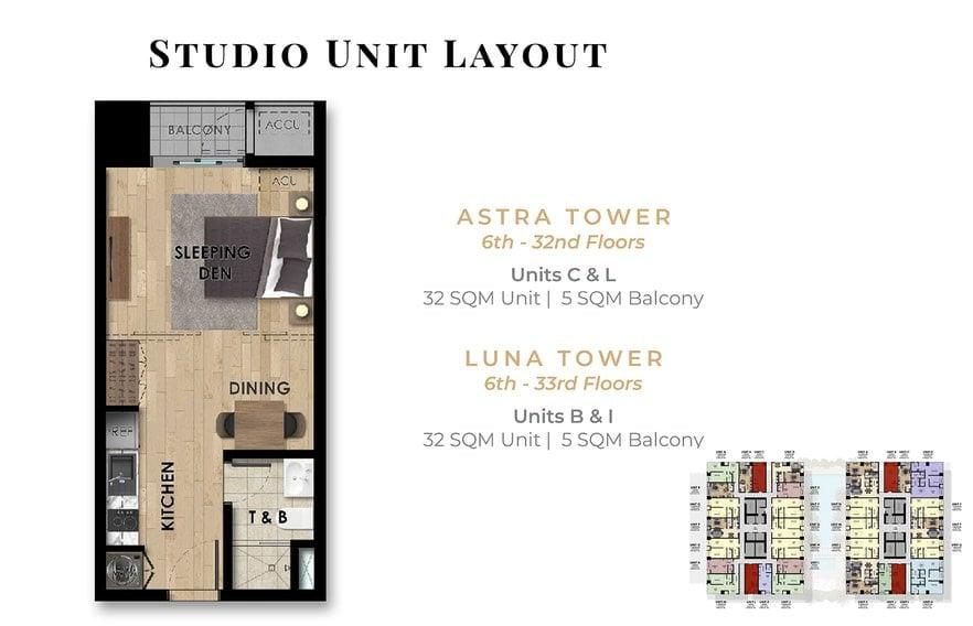 The Fifth Tower - Studio Unit - C, L & B, I