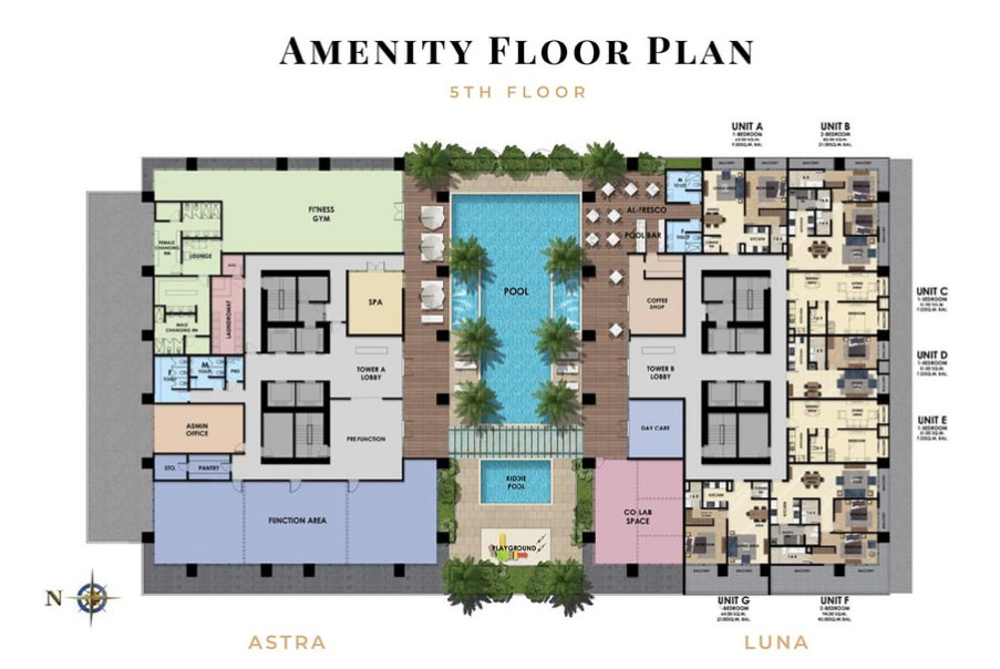 The Fifth Tower - Amenity Floor Plan