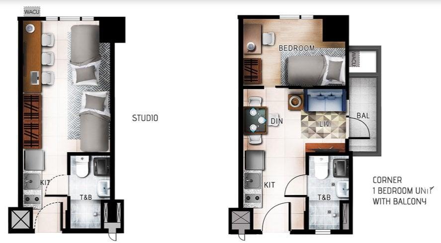 Quantum Residences - Studio and 1 BR Unit