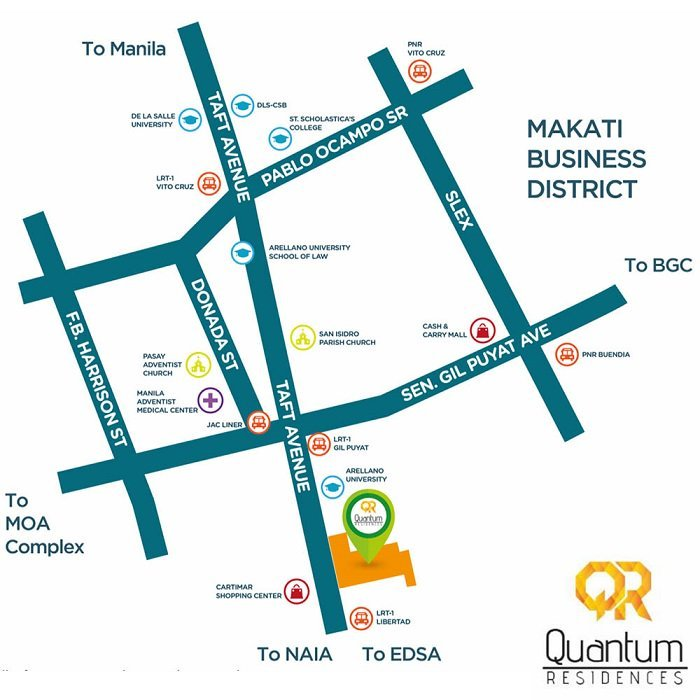 Quantum Residences - Location Map