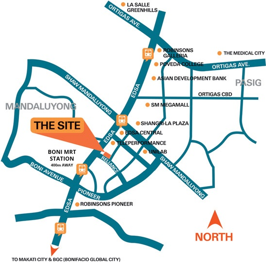 Avida Towers Verge - Location Map