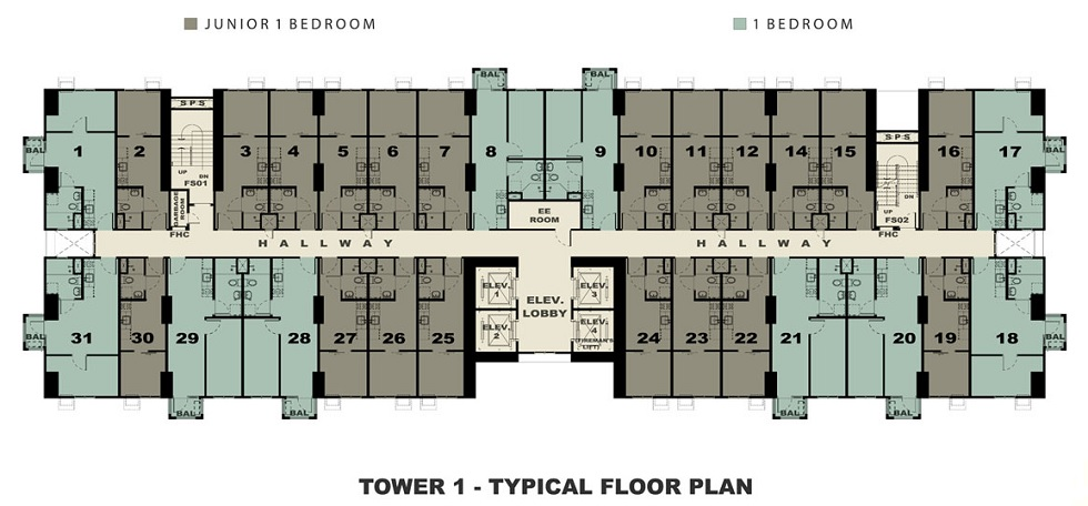 Avida Towers Verge - Typical Floor Plan