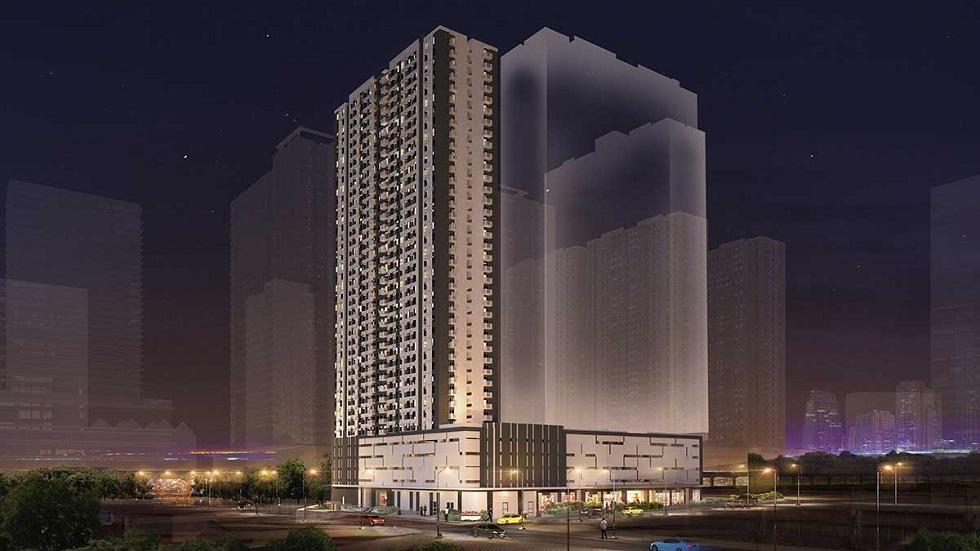 Avida Towers Verge - Building Facade at Night