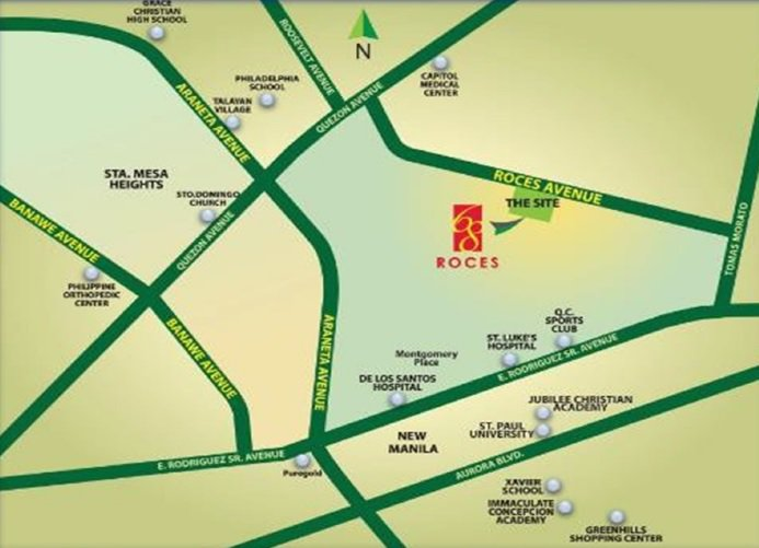 68 Roces - Location Map