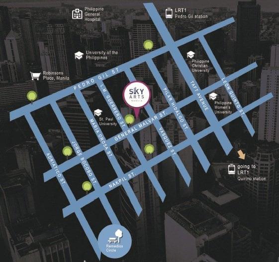 Sky Arts Manila - Location Map