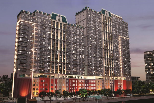 Harbour Park Residences - Building Facade at Night