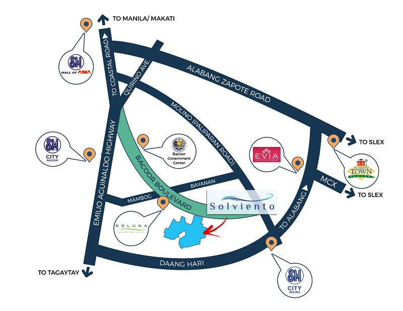 Solviento Villas - Location Map