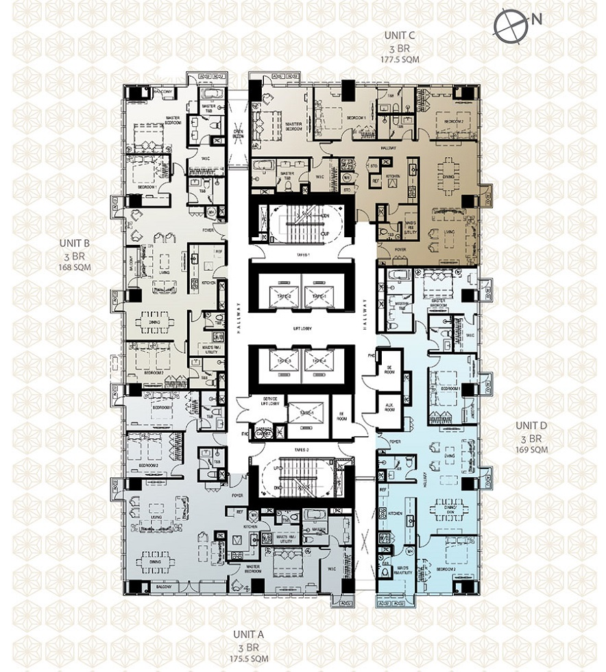 The Seasons Residences - Unit Layouts