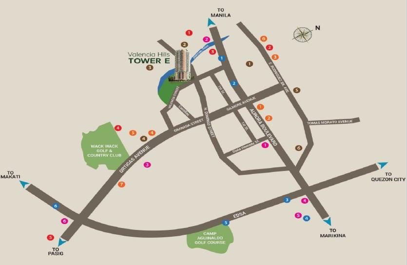 Valencia Hills - Location Map