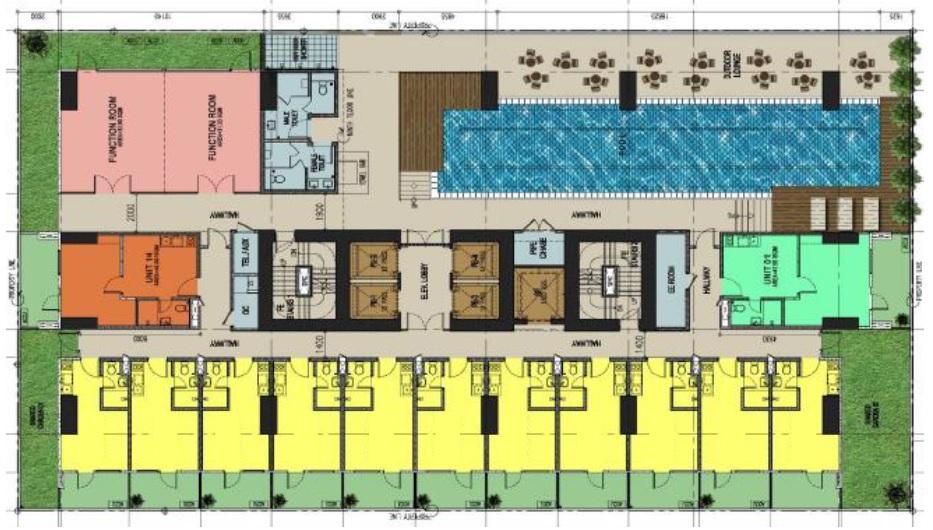 Torre Lorenzo Loyola - Amenity Deck Floor Plan