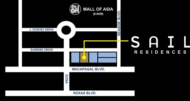 Sail Residences - Location Map