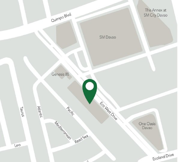 Hotel 101 Davao - Location Map