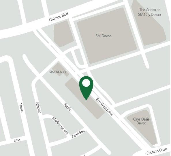 Hotel 101 Davao - Location Map