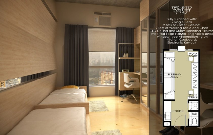 Harvard Suites - Two Bed Type Unit