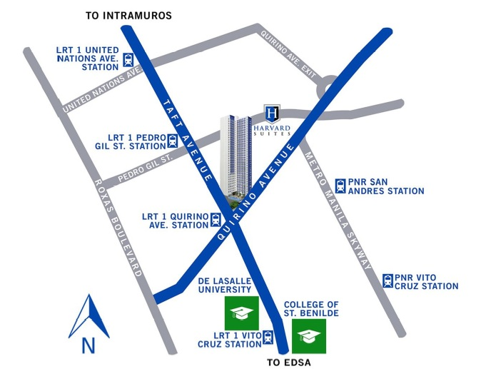 Harvard Suites - Location Map