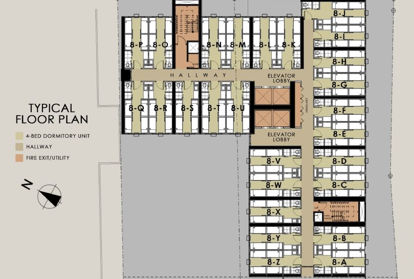Harvard Suites - Typical Floor Plan